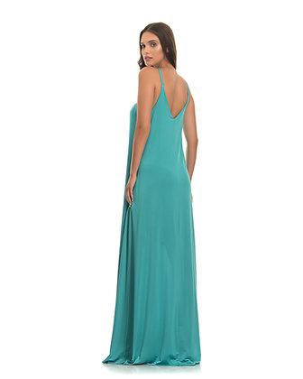 Mi-Ro aqua flowing dress