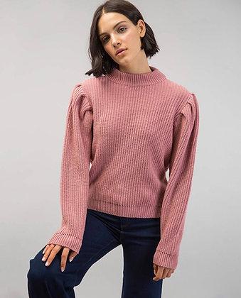 Rose Ballon sleeve knit sweater