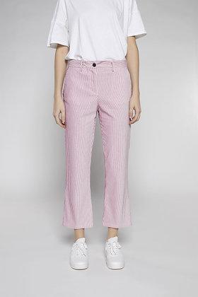 White / Pink Lurex Striped Bell Pants