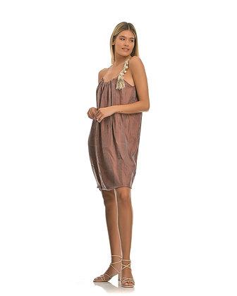 Jijil short dress, pearl strap