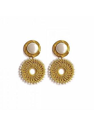 ECHO BEACH Sifnos White Earrings