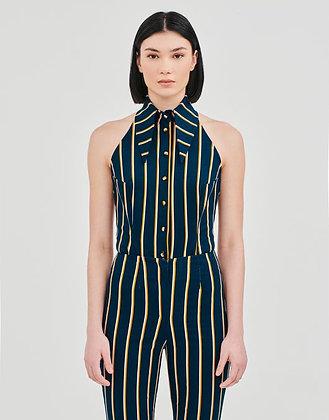 Backless Stripy Bodysuit