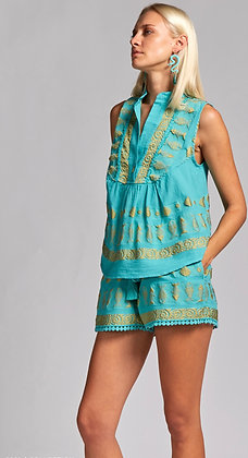 Nema blouse with embroidery 10003