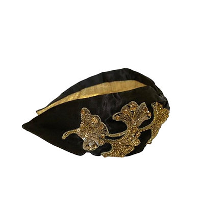 Namjosh handmade headband with gold embroidery
