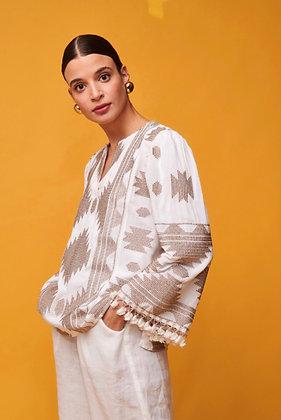 NEMA Stamatia White blouse 10014