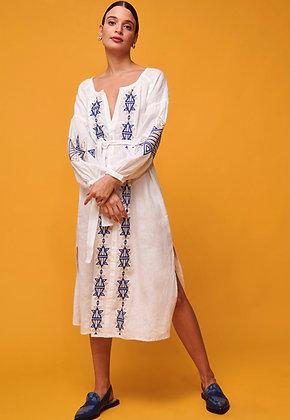 Nema Kaftan dress with blue embroidery 2025