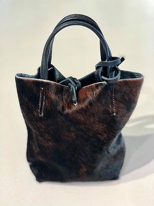 Ponyskin Bucket bag Brown/Black
