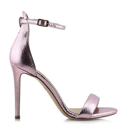 Metallic Pink High Heel Sandal