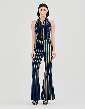 Flared Stripy Trousers
