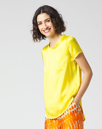 Short sleeve blouse with pocket C335