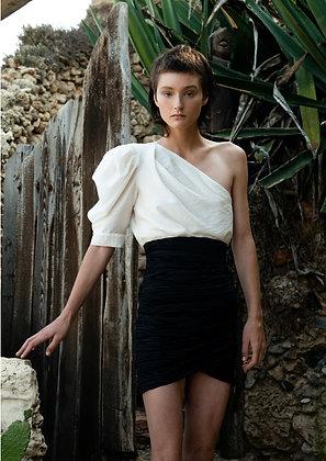 Sabina Musayev off white top