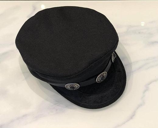 Onyx studded Captains Hat