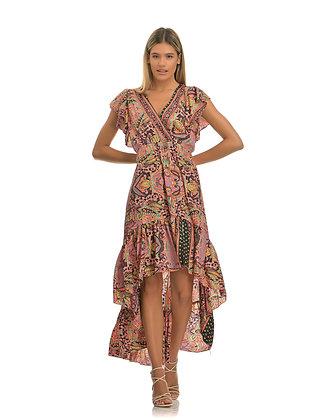 Piti Cuiti asymmetric pink long dress UMMA