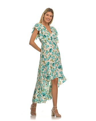 Piti Cuiti asymmetric long floral dress UMMA