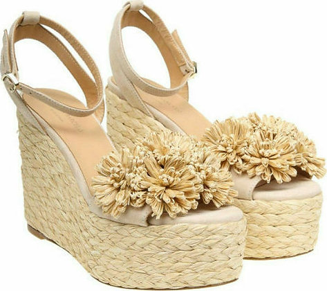 Paloma Barcelo Armele suede and straw platforms