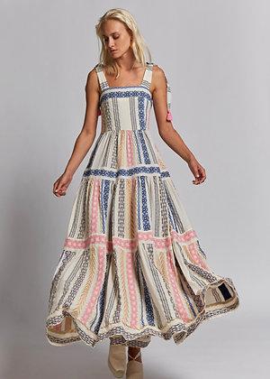 Nema long dress with embroidery 72011