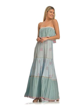 Place du Soleil long strapless dress S20320