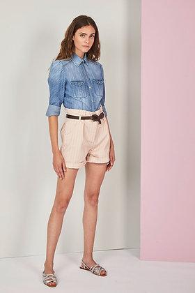 Nenette  pink stripped shorts Sabbia