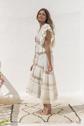 Piti Cuiti Clea top and skirt set in ivory colour