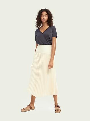 Scotch & Soda pleated ecru long skirt 161606