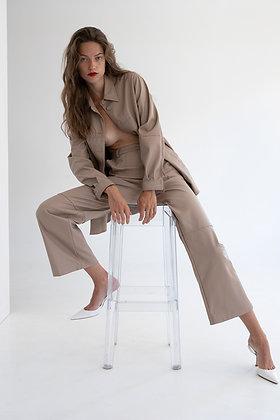 Twenty-29 Wide leg eco leather trousers