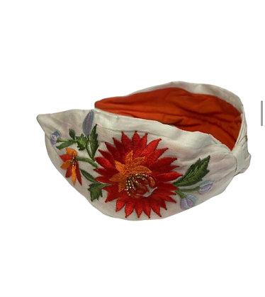 Namjosh hanmade headband with flower embroidery