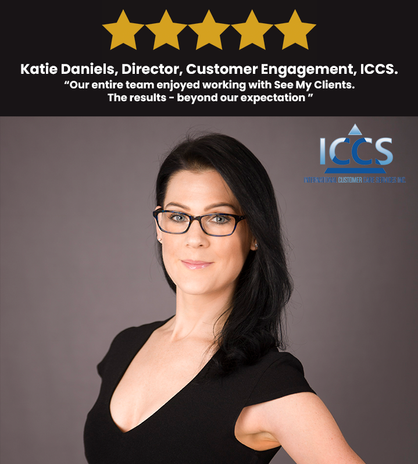 KATIE DANIELS, CUSTOMER ENGAGEMENT, ICCS.
