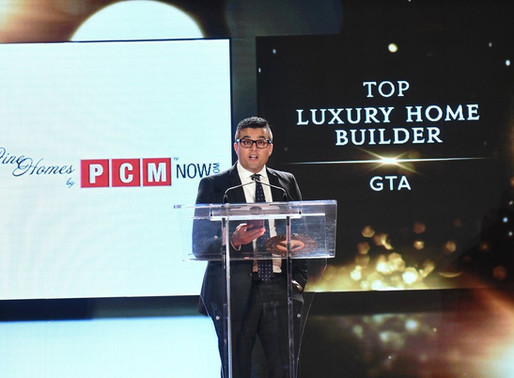 PCM wins again the Top Luxury Home Builder of 2018 in Greater Toronto in Top Choice Award 2018