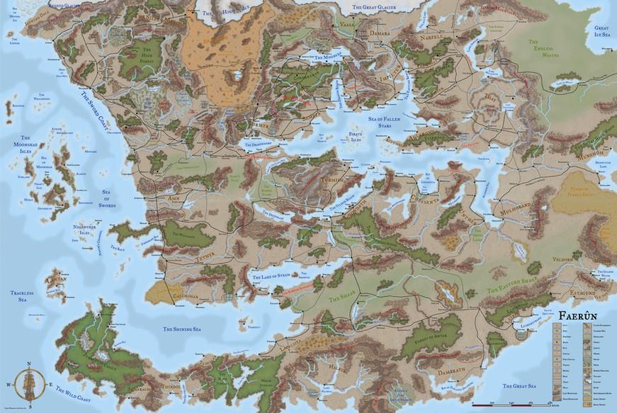 Map of Faerûn