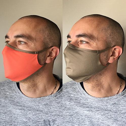 MASCHERINA DOUBLE-FACE in tessuto | con filtri TNT