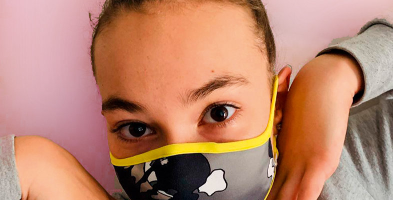 JUNIOR MASK in fabric | with TNT filters