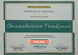 certificate of completion Umamaheswarai.