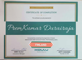 certificate of completion Preamkumar dur