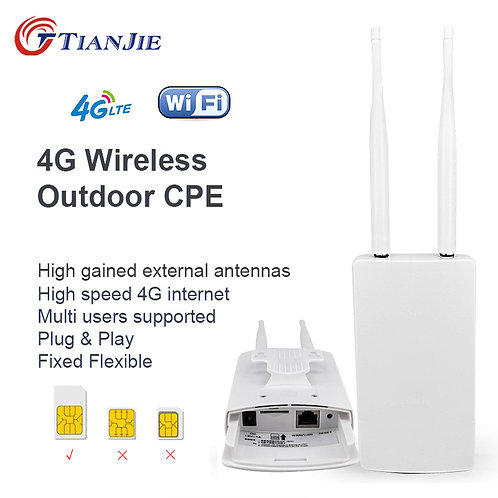 Smart 4G WIFI Router WAN LAN  CPE With Sim Card Slot