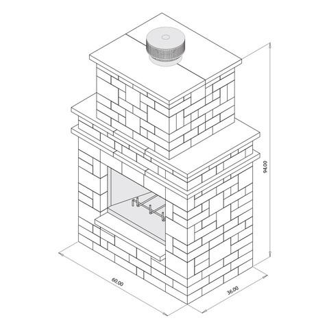 Grand Fireplace Kit