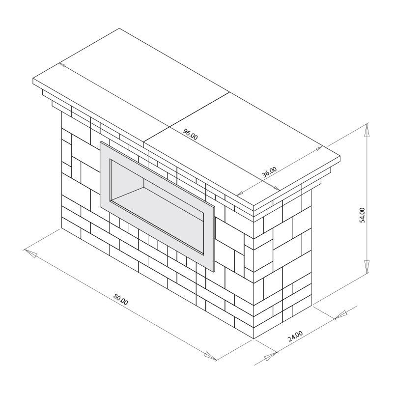 Contemporary Fireplace Kit