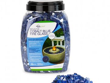 Cobalt Fire Glass