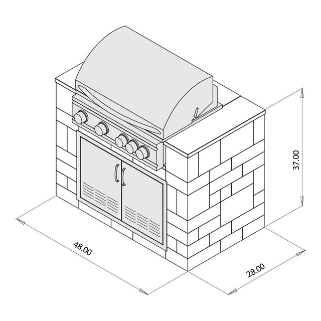 """32"""" Sizzler Grill Cabinet"""