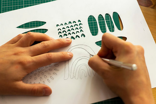 Set wasserfestes Siebdruckpapier