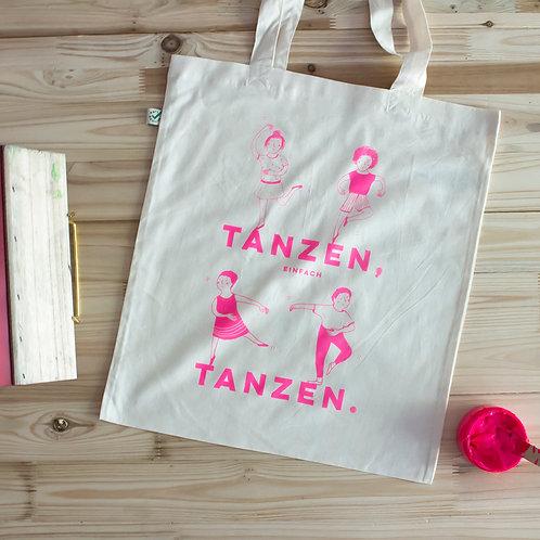"Handbedruckte Tragetasche ""Tanzen"""