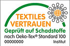 Druckrausch verwendet Oeko-Tex Textilien