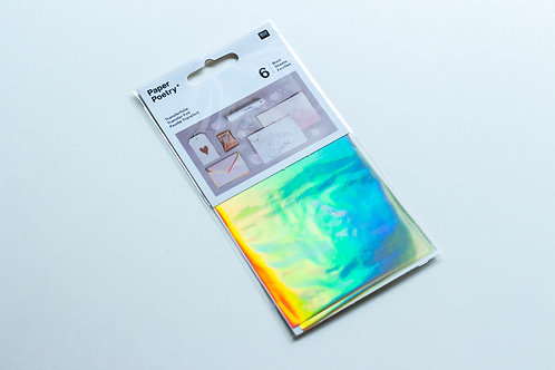 Transferfolie *irisierend*, 9x15cm, 6 Blatt