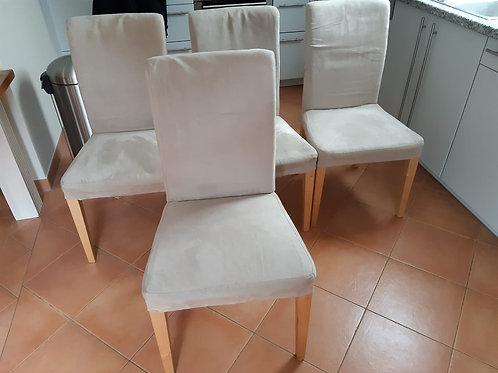 4 Stühle grau