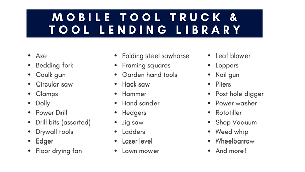 CAHP Tool Lending Library FB Social Post