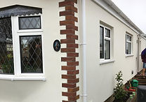 A beautiful park home with completed external wall insulation.