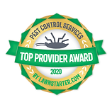 Top Provider Award 2020 pest control services by lawnstarter.com