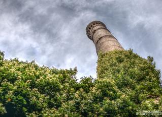 Les vestiges d'un moulin