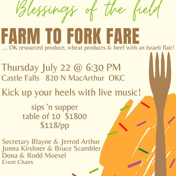 FARM TO FORK FARE