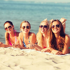 Beautiful ladies on the beach