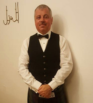 Gary Corkin, newly appointed Leading Drummer at Closkelt